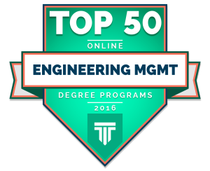 Top 50 Engineering Management Award Badge
