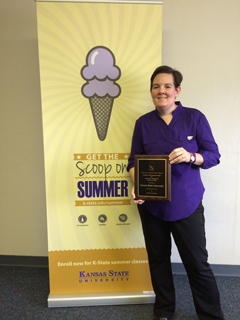 Program coordinator with the award