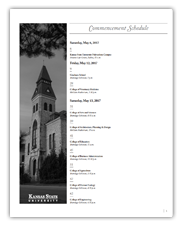 Spring Commencement 2017 program