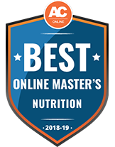 Best Online Master's in Nutrition 2018 Badge