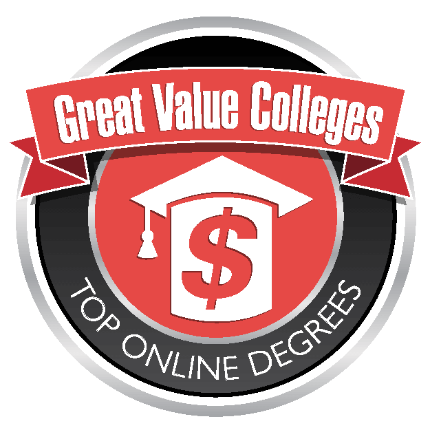 Greatvaluecolleges.net Top Online Degrees Badge for Gerontology