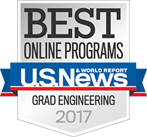 U.S. News Best Online Graduate Engineering Program Badge