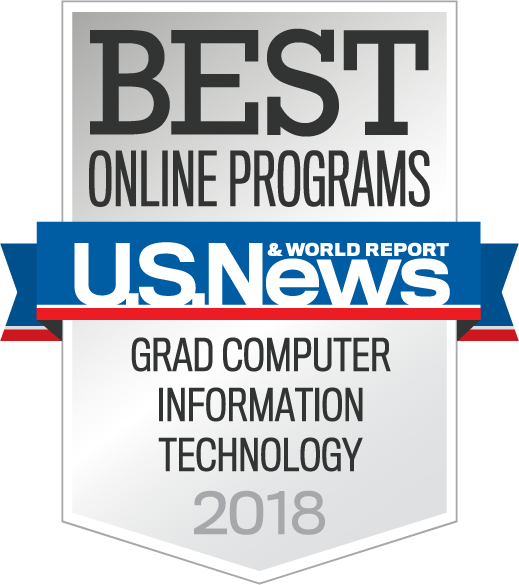 US News and World Report Graduate Computer Information Technology Award Badge