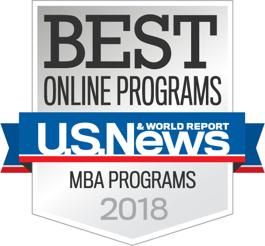 US News and World Report Professional Master's in Business Administration Award Badge