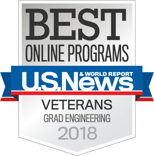 US News and World Report Veterans Grad Engineering Award Badge