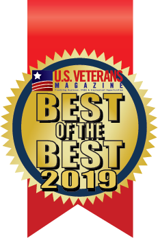 US Veterans Magazine Top Veteran Friendly School Award Badge