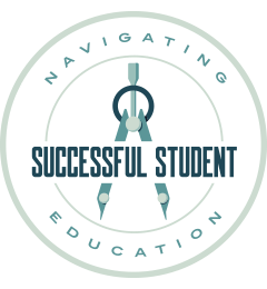 successful student award badge