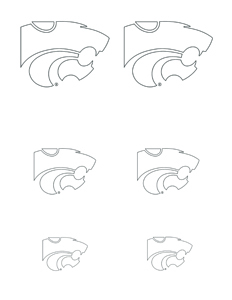 k state wildcat coloring pages - photo#13