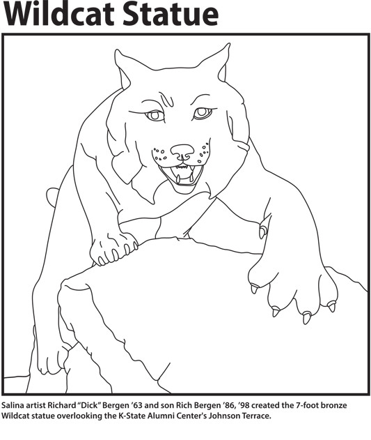 wildcat statue pdf - Open House Coloring Pages
