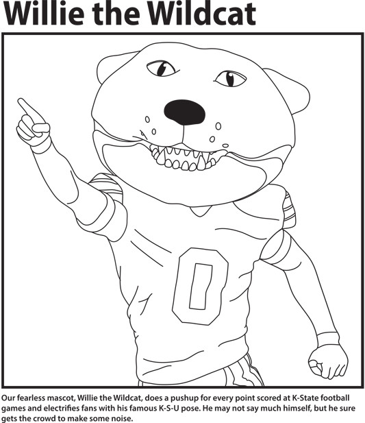 k state coloring pages - photo #10