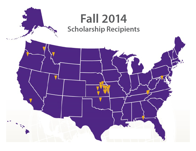 Large fall scholarship map